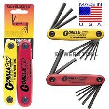 Bondhus Gorilla Grip Hex Fold Up Wrench Set Metric SAE Standard Inch USA 12522
