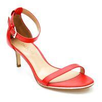 Talbots Ladies 8.5 M Tomato Twist Trulli Red Ankle Strap Open-toe Sandals Heels