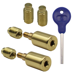 Sash Window Stop Restrictor Lock Ventilation Safety Security Polished Brass