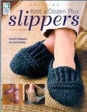 Knit a Dozen Plus Slippers Men Women Children Knitting PATTERNS