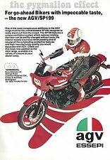 AGV SP199 Essepi Helmet - an Original 1983 Single-Page Vintage Magazine Advert
