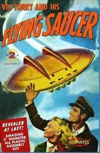 Vic Torry's Flying Saucer 1/72 UFO Plastic Model Kit Atlantis Models #1009