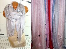 Schal Stola Tuch Hijab Bolero für Kleid Poncho glänzend elegant Silber glanz