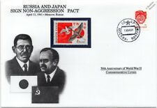 WWII 1941 Russia and Japan Sign Non-Aggression Pact Stamp Cover (Danbury Mint)
