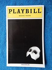 The Phantom Of The Opera - Majestic Playbill w/Ticket - January 16th, 2001