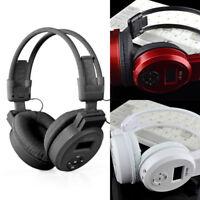 LCD Display Wireless Hi-Fi Headphone Headset MP3 Music Player FM Radio /SD Card