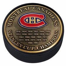 Montreal Canadiens 3D Textured Gold Plated Stanley Cup Medallion Hockey Puck