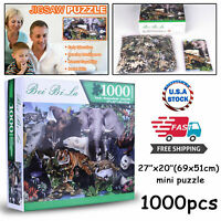 Hot Animal world Educational 1000 Piece Jigsaw Puzzles Adults Kids Puzzle Toys