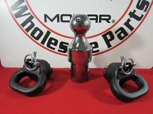 DODGE RAM 2500 3500 Gooseneck Ball&Safety Chain & Anchor Kit NEW OEM MOPAR