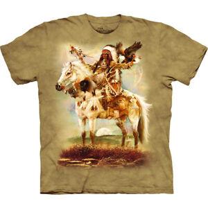 "Ref: MT1648 ""The Mountain Spirit Indians T Shirt "" Unisex"