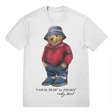 Sneaky Casual Bear Fila Island T-Shirt - White