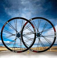 "NEW 26"" Inch MTB Bike Wheelset Wheel Set Rims Disc Brake 8/9/10 Speed  W/QR 24H"