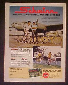 1972 Schwinn Varsity~Orange Krate~Manta~Ray Bicycles Boys Bike Vintage Trade AD