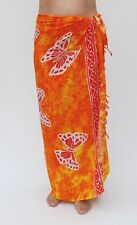 NEW ORANGE BUTTERFLY SARONG PAREO SWIM POOL SKIRT/sa283