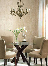 York Wallcoverings Nantucket Ornamental Gold Cream Tan Damask Classic Wallpaper