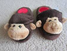 Girls Monkey Slippers Sz. 1/2