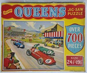 """Vintage Philmar QUEENS JIGSAW PUZZLE M627 🧩 THE LAST LAP 700 Piece 24½"""" x 19½"""""""
