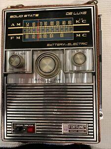 Vintage FORTUNE  AM/FM Portable RADIO WORKS