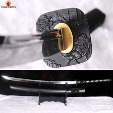 Japanese NAGINATA T10 Steel Clay Tempered Samurai Sword Full Tang Sharp Blade