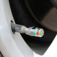 4X KFZ Reifen Ventilkappen Reifenwächter Druckanzeige 36PSI Reifendruckwäch H9Z4