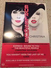 Cher and Christina Aguilera Burlesque 2010 Promo Poster