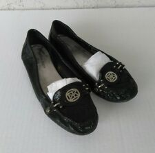 AK ANNE KLEIN AKNEWLAN Womens iflex Low Heel Career Shoes Sz 7.5M Leather Black