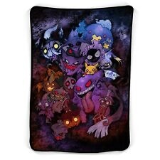 Pokemon Gengar Characters Fleece Blanket