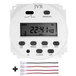 12V Timer Switch Programmable Digital 12 Volt DC/AC/Solar Battery Powered