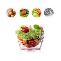 Creative Stainless Steel Fruit Plate Fruit Bowl Rotation Fruit Basket 6924