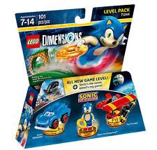 LEGO Dimensions Sonic level pack - Sonic the Hedgehog, Tornado plane, car, NEW!