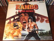 Laserdisc RAMBO SUPER SERIES II 1985 Sylvester Stallone Japan Import LD w/o OBI