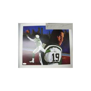 Keyshawn Johnson signed New York Jets 20x24 Leon Wolf Lithograph  LTD 319 - JSA