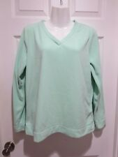 Womens SJB Active Mint Green Fleece Shirt Long Sleeve Pullover Size Medium