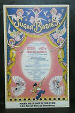 "Sugar Babies Musical Theater Broadway Window Card Poster 14"" x 22"""