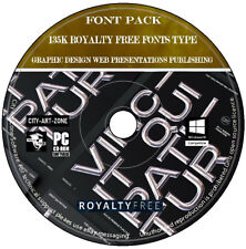 135,000 Royalty Free Fonts Graphic Design Web Presentations Publishing New DVD