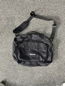 SUPREME FW19 BLACK BOX LOGO DUFFLE MESSENGER BAG CORDURA FABRIC