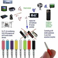 Universal Wireless Remote Infrared IR Plug Control Jack TV DVD For Mobile Phones