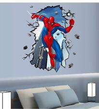 DIY 3D Spider man Autocollant mural enfants décoration chambre enfant garçon