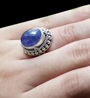 Solid 925 Sterling Silver Jewelry Tanzanite Gemstone Engagement Gift Ring