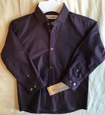 8724bbd8a6a6 Boys Dress Shirt Size 4 Calvin Klein Slim Fit Top Long Sleeve Button Down  purple
