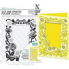 DOCRAFTS XCUT A6 FLORAL FRAME CUT & EMBOSS FOLDER GREAT FOR BIRTHDAYS