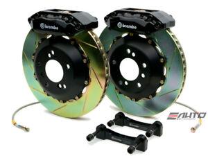 Brembo FRONT GT Brake 4 Pot Black 328x28 Slot CL 01-03 TL 99-03 Accord V6 98-02