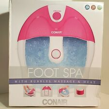 Conair Foot Spa with Bubbles, Massage and Heat! New in Box! PINK