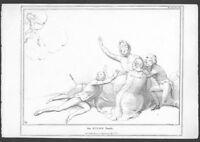 Original John Doyle (HB) Caricature Print - The Niobe Family