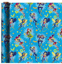 DC SUPER HEROES GIRLS WRAPPING PAPER ROLL GIFT WRAP ANY OCCASION 20 SQUARE FEET