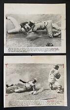 Frank Robinson rare 1962 vintage AP newswire action press photos Cincinnati Reds