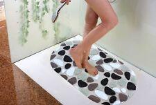 Bath Mat PVC Anti-Slip Tube Massage Pebble Sticker Bathroom Home Shower Safe