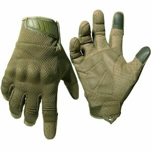 Unisex Flexible Gloves Touch Screen Breathable Motocross Hard Knuckle Mittens