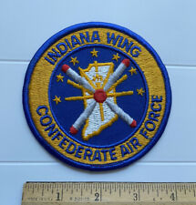 """Commemorative Confederate Air Force Indiana Wing 4"""" Round Embroidered Patch"""