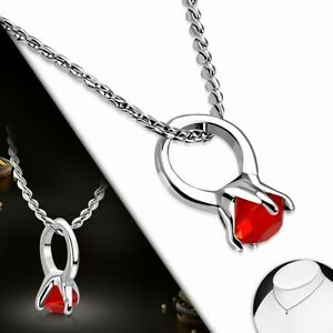 Alloy Fashion Necklace Baby Chain Charm Fire Opal Orange Cz